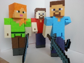 minecraft steve pinshape blok minecraft pixel figure steve block