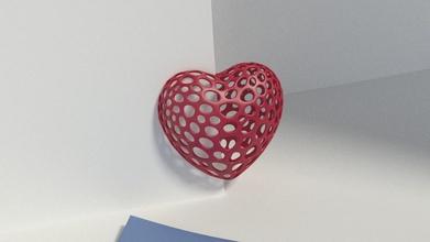 heart slot - voronoi style pinshape 3d-design
