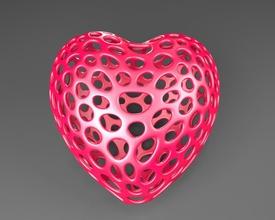 heart - voronoi style pinshape voronoi heart