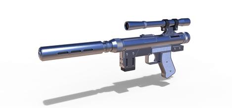 blaster pistol se-14r lando calrissian pinshape toy replica prop cosplay starwars star-wars lando calrissian-blaster se-14r blaster-se-14r gun pistol blaster