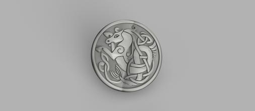 celtic myth coaster v2 pinshape celtic-knot celtic-coaster horse horses celtic-horses celtic-horse celtic-seahorse celtic mythological idealab drinkcoasters drinkcoaster coasters coaster