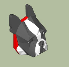 boston terrier Kühlschrank magnet pinshape low poly design contest