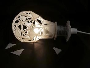 in frantumi sfaccettato luce pinshape lampada luce faccetta low poly progettazione concorso lampada luce