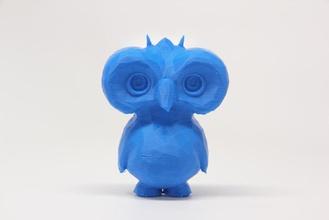 poly owl dude pinshape owl poly owl poly faceted owl bird
