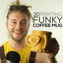 funky coffee pinshape tutorial shapeways porcelain pla learning 3d learning funky freecad dreads created freecad coffee coffee beginners beginner autocad 3d modeling 3d hubs 123d design 123d