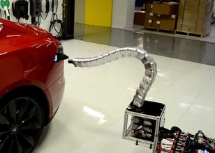 ekobots yılan şarj cihazı tesla pinshape oyuncak tesla yılan robot şarj cihazı mafsallı kol