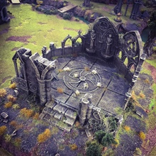 gothic abby airplane Scenary gothic abby large 4 part model designed printed 4 parts assembled set pre-openlock pieces must glued together also included ruin components can scattered around it set works well almost any sort wargame bolt action warhammer 40k