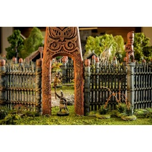 maori pa gate airplane Scenary maori pa front gate designed off classic maori pa entrance prints two pieces which then glued together