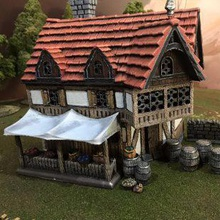 merchants market airplane Scenary merchant market stall comes complete barrels sacks baskets also contains solid version useful scaling printing out 33 10mm scale  winterdale buildings designed glued placed together