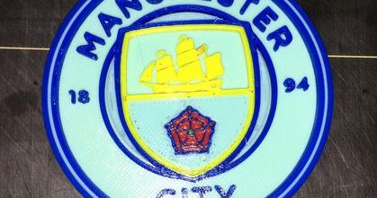 manchester city 4 color logo prusaprinters manchester city 4 color logo prusaprinters