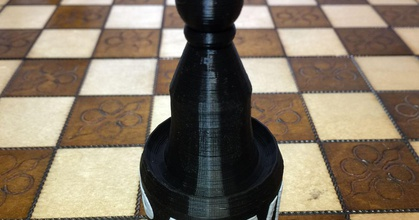 pawn chess piece -with pawn prusaprinters pawn chess piece -with pawn prusaprinters