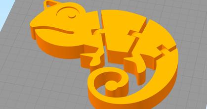 segmented chameleon keychain prusaprinters segmented chameleon keychain prusaprinters