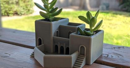 roman terrace garden succulent planter prusaprinters roman terrace garden succulent planter prusaprinters