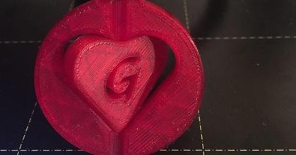 heart keychain prusaprinters heart keychain prusaprinters