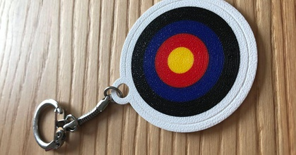 archery target keychain multi-material prusaprinters archery target keychain multi-material prusaprinters