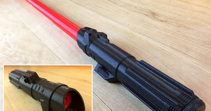 collapsing sith lightsaber removable blade prusaprinters collapsing sith lightsaber removable blade prusaprinters