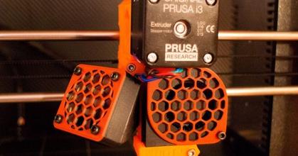 tilted adapter noctua upgrade fan + 2x fan cover prusaprinters tilted adapter noctua upgrade fan + 2x fan cover prusaprinters