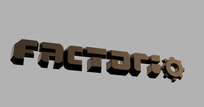 factorio logo prusaprinters factorio logo prusaprinters