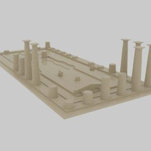 asos ancient city - athena temple print ready 3d model asos ancient city - athena temple print ready 3d model