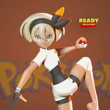 bea - pokemon print ready 3d model bea japanese sait gym leader stow-on-side's gym known officially stow-on-side stadium she specializes fighting-type pok mon she gives fighting badge trainers defeat her pok mon shield allister takes her place stow-on-side's gym leader instead - quote googlewhen you purchase model you own - obj stl files ready 3d printing - zbrush original files ztl you customize you like version 10 model thanks so much viewing my model hope you guys like her