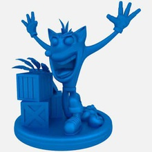 crash bandicoot print ready 3d model ok have admit he's bit off original but there so many versions him just took slight creative liberty lol warning aku aku feathers most lightly pop off taking off supports off wumpa leaves may not come out depending material you use little glue some patience did trick me