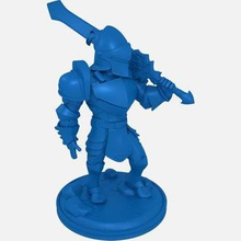 energy knight print ready 3d model energy knight unique avatar he use power his energy blade cut off enemies his armor powered via mithril cristal his back he brave powerful but he's very short shhh don't say loud he very touchywe wanted create fantasy style avatar but keeping very cartoony proportions model easy build parts solid great addition your desk