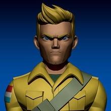 gi Joe personnages capitaine Duc impression prêt 3d modèle gi Joe personnages capitaine Duc impression prêt 3d modèle