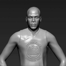 kevin durant print ready 3d model here kevin durant 3d model ready 3d printing scale 1 10 - 206 mm height but you can adjust size you want zip file contains obj stl model created zbrushif you have any questions please don't hesitate contact me respond you asap encourage you check my other celebrity 3d models