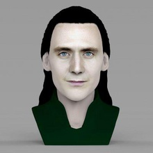 loki bust full color print ready 3d model here loki thor avengers bust 3d model ready full color 3d printing model current size 5 cm height but you free scale it zip file contains obj texture png model created zbrush mudbox photoshopi am attaching stl file if you would like print standard materials tooif you have any questions please don't hesitate contact me respond you asap encourage you check my other celebrity 3d models