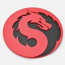 mortal kombat 2021 logo pronti per la stampa del modello 3d modello dimensioni - diametro 80 mm - spessore - 6 mmdesigned solid works 2012 reso keyshot 5099