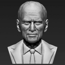 prince philip bust print ready 3d model here prince philip bust 3d model ready 3d printing model current size 5 cm height but you free scale it zip file contains obj stl model created zbrush