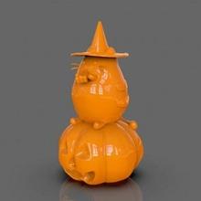 pusheen eating pumpkin pie print ready 3d model pusheen eating pumpkin pie print ready 3d model