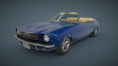 1965 ford mustang convertible - buy royalty free 3d model kristian lagrange kristian123 05f2a29 new model made my free time 1965 ford mustang convertible modelled maya textured substance painter photoshop - 1965 ford mustang convertible - buy royalty free 3d model kristian lagrange kristian123 05f2a29