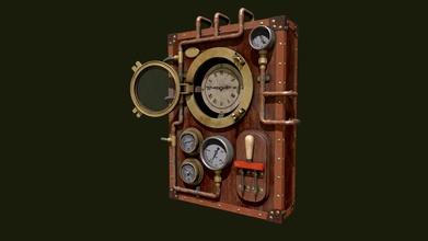 aged steampunk clock - 3d model handy chevrin zeedaly cc86684 steampunk style clock modeled maya textured substance painter - aged steampunk clock - 3d model handy chevrin zeedaly cc86684