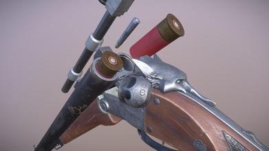 argent gun - 3d model wade bribach artistking 3d4fa15 argent gun - 3d model wade bribach artistking 3d4fa15