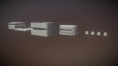 bunker assets - buy royalty free 3d model jerolpoa jerolpoa f032e9d bunker assets these bunkers based nazi fortifications built normandy during second world war models were made using blender textured substance painter have low-medium poly count perfect games background complements scene renders entire scene have 9633 polygons 2 material composed 8 image textures pack content barrier 1 barrier 2 barrier 3 barrier 4 bunker 1 bunker 2 bunker 3 artillery platform texture variation1 texture variation2 - bunker assets - buy royalty free 3d model jerolpoa jerolpoa f032e9d