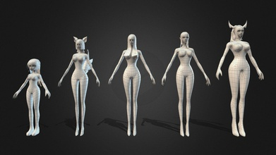 comic body starter kit-female - buy royalty free 3d model danielmclogan danielmclogan e4d84f3 basic clean topology female comic character body base mesh help increase your productivity good base mesh allows you save time foundation any good sculpt good proportions clean topology clean paint weight features 5 clean topology lowpoly meshes subdivision ready little girl 2 standards body styles obesity &superheroes uv unwrapped max 2014 format lowpoly not include texture - comic body starter kit-female - buy royalty free 3d model danielmclogan danielmclogan e4d84f3