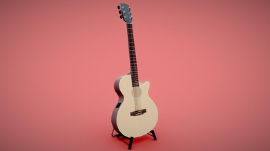 cort acoustic guitar - 3d model isolatedvertex samwang12 8016047 cort acoustic guitar modelled scale stand seperate mesh strings tuning knobs tuner animations created blender procedural textures not rigged vertexs 12 549 faces 12 153 triangles 24 290 music &ldquo nylon string guitar steel string bassmp3&rdquo 4barrelcarb via freesound - cort acoustic guitar - 3d model isolatedvertex samwang12 8016047