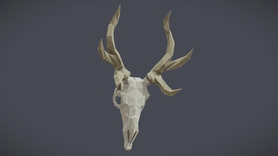 deer skull - buy royalty free 3d model aleksei vlasov nucld e887949 simple mesh diffuse ao textures - deer skull - buy royalty free 3d model aleksei vlasov nucld e887949