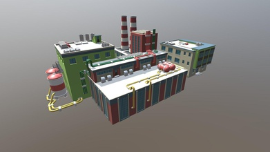 factory - buy royalty free 3d model artist286b artist286b b0e0d51 low poly factory made blender 282 rendered blender cycles low poly mesh 2 simple 256x256 textures factory texture 1 factory texture 2  2 objects each object has its own texture  suitable asset game engines enjoy model - factory - buy royalty free 3d model artist286b artist286b b0e0d51