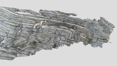 fault-propagation fold pelagic limestones - download free 3d model jena structures & tectonics wukaimi 8f8251e photogrammetric model folded late cretaceous pelagic &lsquo scaglia bianca&rsquo limestones exposed foot komani hydroelectric dam albania  strike strata approx e-w fold axes plunging subvertically long axis model c 4 m - fault-propagation fold pelagic limestones - download free 3d model jena structures & tectonics wukaimi 8f8251e