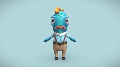 poisson personnage prêt animation 3d modèle franciscodugarte franciscodugarte e448ed1 poisson personnage prêt animation 3d modèle franciscodugarte franciscodugarte e448ed1