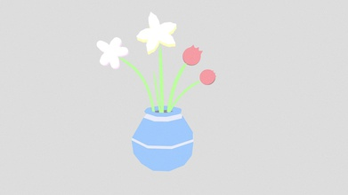 flowers vase 1 - 3d model jay m jay m 99508a5 just some lowpoly flowers going series still life flowers vases i&rsquo ll doing while - flowers vase 1 - 3d model jay m jay m 99508a5