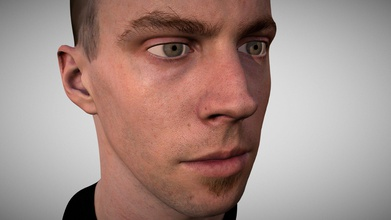 human male head 3d scan sky - buy royalty free 3d model sky tesi skytesi 0db5a34 human male head 3d scan sky head captured canon 5dsr macro lens using cross-polarization lighting flat light elimination highlights which captures more true color more points point cloud which then surfaced mesh package includes head eyes one obj can separated - 3 880 polys eyes 35 824 polys head diffuse map 4k normal map 4k displacement map 2k head specular rough map 2k mtl file so you can drag-and-drop view obj texture  models have quad meshes uvs head scan myself using technique developed after 4 years daily tests - human male head 3d scan sky - buy royalty free 3d model sky tesi skytesi 0db5a34
