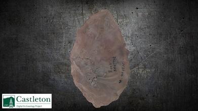 grande bifaz montón 1 533b 3d modelo Castleton Universidad digital arqueología proyecto cudap b9836b6 grande bifaz montón 1 533b 3d modelo Castleton Universidad digital