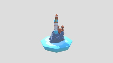 lighthouse observatory island - 3d model andr s kuiper kuiperesteve 47ffeb8 almost late but there my lighthouse design did lighthousechallenge simple colors textures low poly model - lighthouse observatory island - 3d model andr s kuiper kuiperesteve 47ffeb8