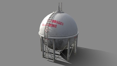 liquid hydrogen spherical storage tank - buy royalty free 3d model magiccgistudios magiccgistudios d860d65 liquid hydrogen spherical industrial storage tank created blender 279 280 textured substance painter 2 2k resolution basecolor metallic roughness & normal maps low poly model tested 280 eevee render engine nice asset your project detailed model easily duplicate model rack tanks fill out your scene approximate real world scale applied 3 formats provided blend fbx obj + all textures thanks looking magiccgistudios - liquid hydrogen spherical storage tank - buy royalty free 3d model magiccgistudios magiccgistudios d860d65