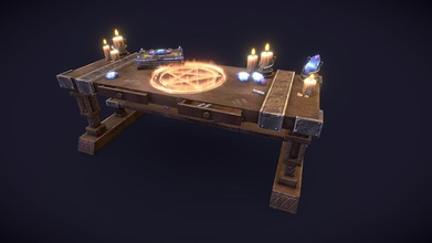 magical summon table - buy royalty free 3d model katerina miru lanoryrin 5119faf medieval alchemy table summoning souls inspires games such skyrim witcher others you can check my artstation https wwwartstationcom artwork 6a9y66 lowpoy game ready model 2k pbr textures 2k table texture table pentagram 2k table texture clear table without pentagram 2k books texture set three different colors 1k candle texture 1k special effects textures uvs tightly optimized contains maya mb fbx obj files candle only here https sketchfabcom 3d-models candle-with-candleholder-d316e4a978f34df4949a3fe720969c5d books only here https sketchfabcom 3d-models magic-books-00fe5234ff1540a3b40d9c208c7f2da7 table only here https sketchfabcom 3d-models alchemy-wooden-table-d8ed87f94bda4705b3b1fcc6c64e6b42 - magical summon table - buy royalty free 3d model katerina miru lanoryrin 5119faf