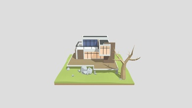 maison moderne low-poly - 3d model onelyk onelyk b7fa069 maison moderne low-poly - 3d model onelyk onelyk b7fa069