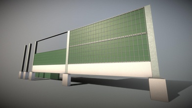 modular noise barrier 2 high-poly - buy royalty free 3d model vis-all-3d vis-all d37c5ef here modular set adding high-poly noise barriers your scene low-poly version coming soon there also version ivy pbr-textures 8k res low-poly version done noise barrier version 1 modeled textured 3dhaupt blender-283 - modular noise barrier 2 high-poly - buy royalty free 3d model vis-all-3d vis-all d37c5ef
